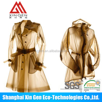 Top quality tpu women sexy two piece PVC raincoat