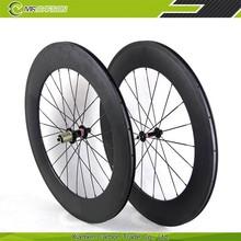 100% hand built 88mm carbon wheels clincher for road bike