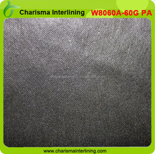 60gsm PA glue Double Dot Thermal Bond non woven interlining with high quality