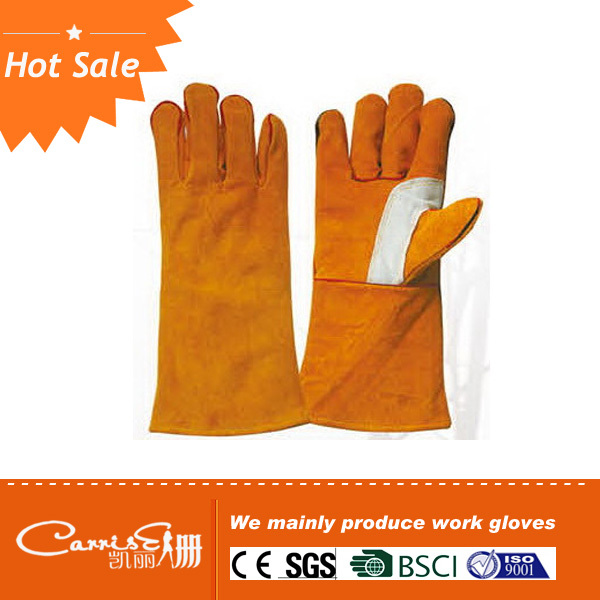OEM\ODM High quality cow leather safety welding glove
