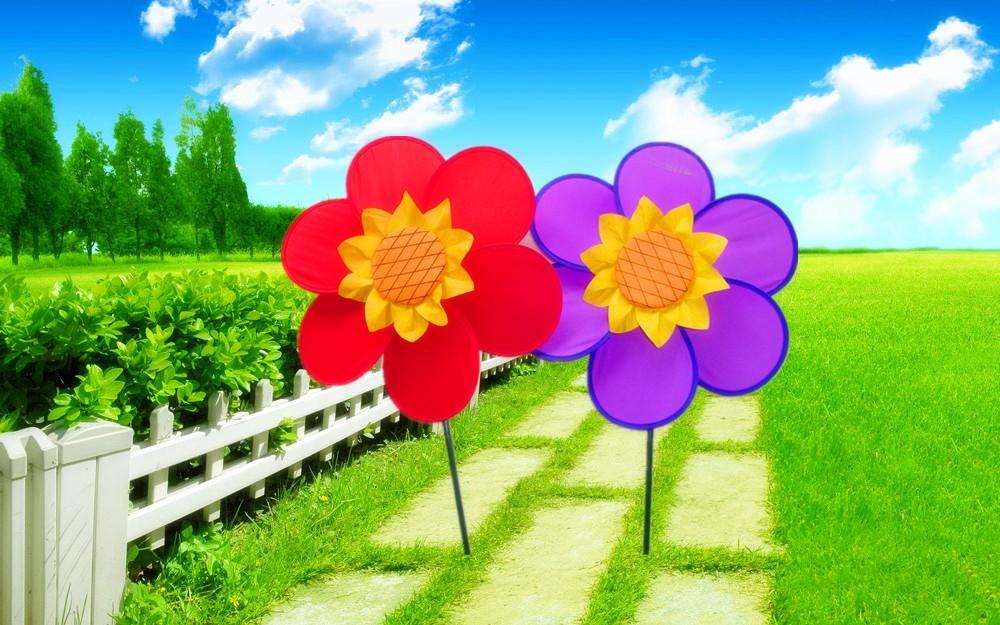 Jard n decoraci n poli ster molino de viento de bricolaje for Molinos de viento para jardin