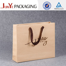 Fashionable design shopping using popular small whites bitumen kraft paper packing bag
