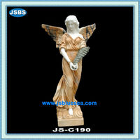 Decorative Hand Carved Stone Angel Life-size Statue