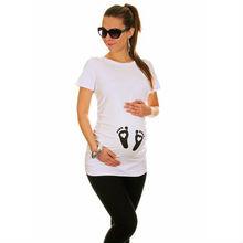 Venta al por mayor de maternidad en blanco t camisas/venta al por mayor de ropa de maternidad