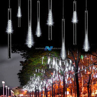 50 Meteor Shower Rain Tubes LED Light For Christmas Wedding Garden Decoration 100-240V/EU White