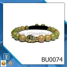 2015 nuevos productos cabeza de buda azul aventurien murano joyas de piedra