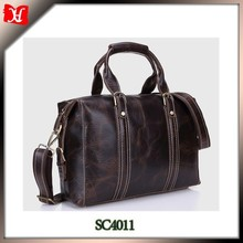 mens travel bag real leather material super high quality