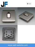 JF1252 20a 25A brushed stainless steel silver on off light switch