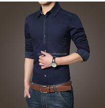 2015 traje de moda para hombre camisas de manga larga Claasical