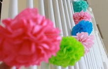 5inch Tissue Paper Garland 10 Mini Poms Party decoration