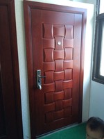 indian style steel wood armored latest design interior door baodu brand with high quality