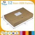 brown kraft embalaje de ropa plegable de papel tamaño a4 caja de archivo