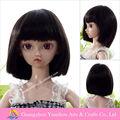 nueva llegada de excelente calidad negro para el cabello hermoso para la muñeca