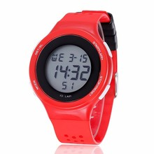 YX9023 Simple Style Silicone Digital Red Led Watch Waterproof