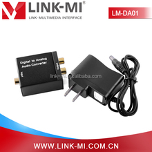LINK-MI LM-DA01 Optical Coaxial To RCA Audio Digital to Analog Converter