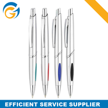 Round Stick Pens Silver Color Ball Pen