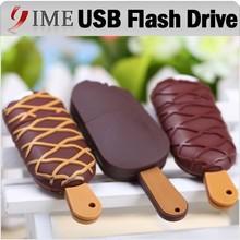 Real Capacity Cartoon Ice Cream Usb Stick Small Popsicle USB Flash Drive 4gb 8gb 16gb 32gb 64gb Pendrive Pen Drive Usb2.0 Flash