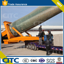 self-propelled lift wind blade hydraulic directional steering lowbed special semi trailer with heavy cargo transportation