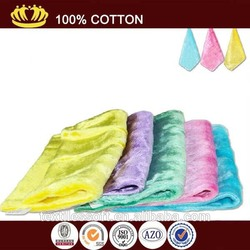 microfiber multicolor absorbent terry hair salon towel
