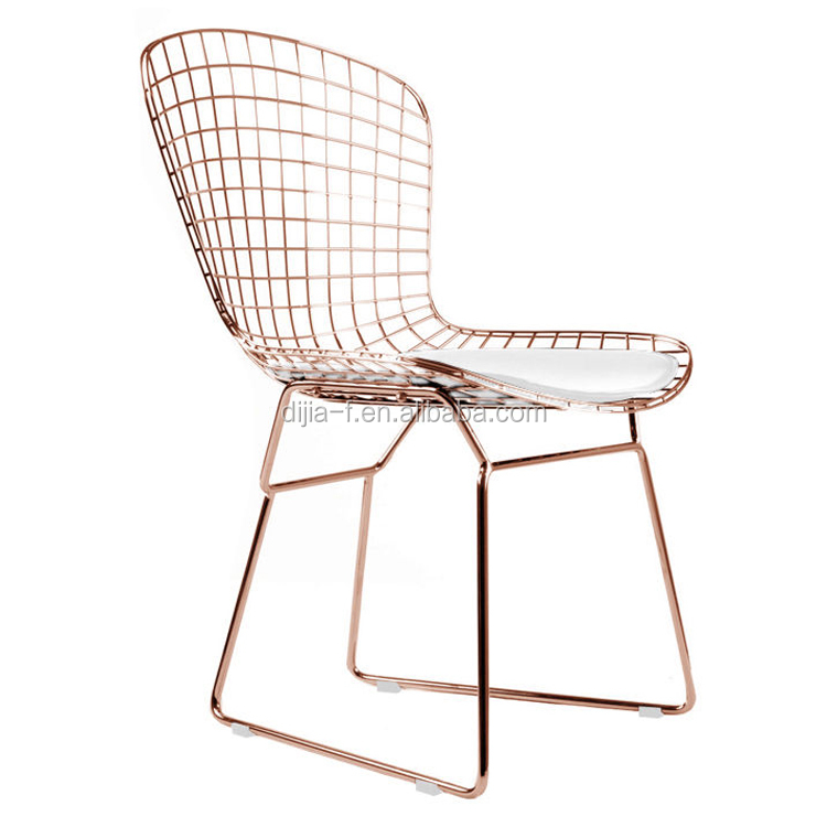 modern dining room wire rose gold metal chair buy rose