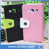 2014 fashion design fabric mobile phone pouch for samsung galaxy win i8552 with magnetic button & stand