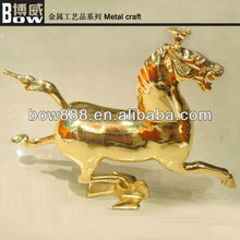 Exquisite brass metal gift horse craft