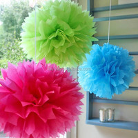 Party Decoration Event & Party Item Type and New Year Occasion Party wedding decorative tissue paper pom pom
