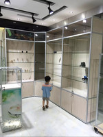 FACTORY OUTLET chinese aluminium frame galss sliding door showcase for exhibition