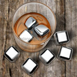 Best wine chiling tool stainless steel whisky stones4pcs/6pcs