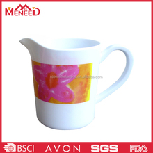 Red flower print plastic melamine water jug , china wholesale mug cup