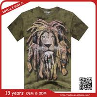 china wholesale custom hip hop rock 3D lion fashion 3D sublimation printed t shirt