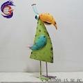 Metal verde ornamentales artificiales pájaros de la decoración del hogar