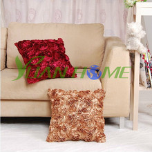3D Flowers Design Satin Cushions (YHC 3003)