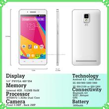 producto de China para el teléfono inteligente mejor calidad 5 pulgadas con 512 MB de RAM y 4 GB de ROM