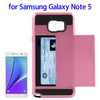 Factory directly Slide Style Plastic and Silicone Hybrid case for Samsung galaxy note 5
