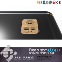 Retail electronic store wood display table for computer and mobile phone