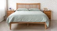 OEM export healthful solid wooden bed frame