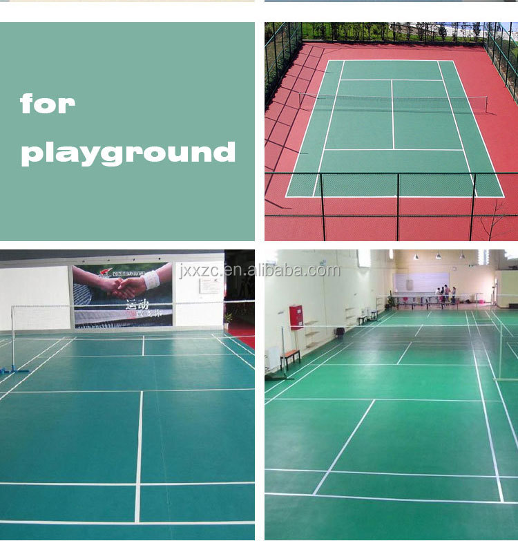 PVC outdoor sports flooring made in China
