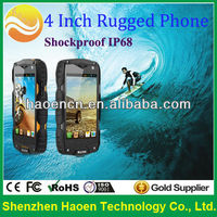 Newest rugged mobile phone with 4inch dual core 1G+4G ROM best heavy duty IP68 cell phone OEM accept