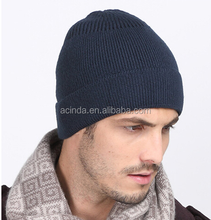 Custom Label Men's Knit Slouch Beanie/Wholesale Winter Slouchy Beanie Hat