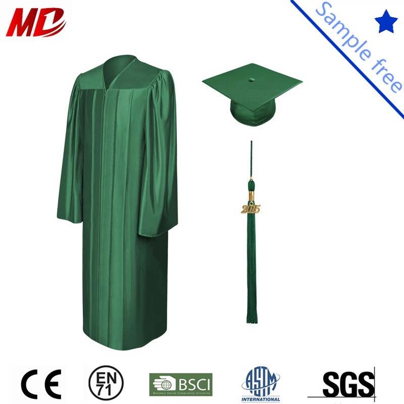 Forest green shiny graduation cap and gown_.jpg