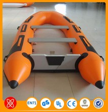 1.5mm Pvc lake fishing boats rigid hull inflatable boat