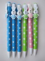 Fashion newest plastic hotsale cartoon heart ball clip funny ball pen