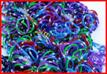 Polka Dot Loom Bands, Factory Offer Cheaper Price Specail Rubber Bands