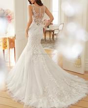 JPSKIRT1506055 Sexy Strapless See-through Mermaid Wedding Dress