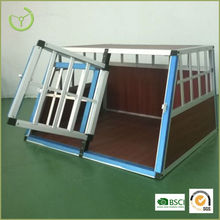 Aluminum dog cage/dog house for transport and feeding