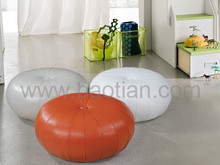 Baotian Furniture modern designs genuine leater ottoman