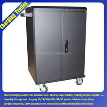 Tablet Charging Cart With Wheels / Mobile Phone Tablet Carrying Cases / 12V Solar Tablets Battery Charger