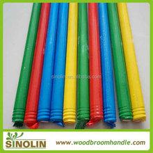 120*2.2cm Wooden broom handle threaded end cap