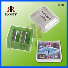 Double Hole Cosmetic Factory Plastic Pencil Sharpener